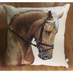 Kuddfodral ljus brun häst