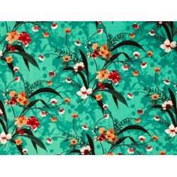 Turkosgrönt med blom