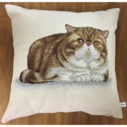 Liggande brun-vit katt BEIGE