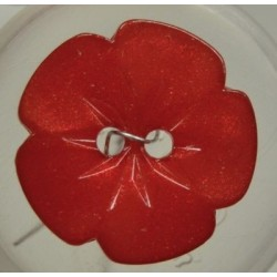 RÖD blom-knapp