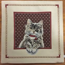 Katt i ruta BEIGE