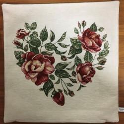 Hjärtformade rosor BEIGE