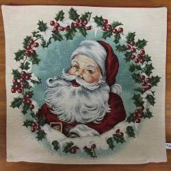 Jultomte i krans BEIGE
