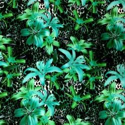 Exotiska blommor på leopard...