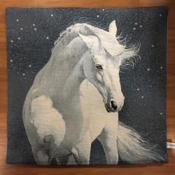 Vit häst & stjärnhimmel BEIGE