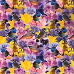 Fåglar bland blommor