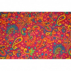 Paisley CERISE baby-cord