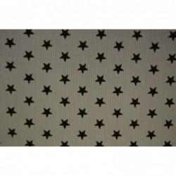 GRÅ med svarta stjärnor